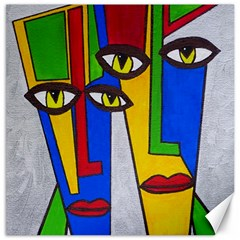 Face Canvas 16  X 16  (unframed)