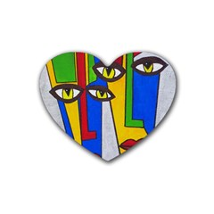 Face Drink Coasters 4 Pack (Heart)