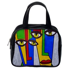 Face Classic Handbag (One Side)