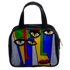 Face Classic Handbag (Two Sides)
