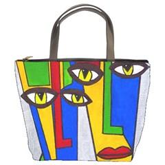 Face Bucket Handbag