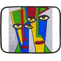 Face Mini Fleece Blanket (Two Sided)