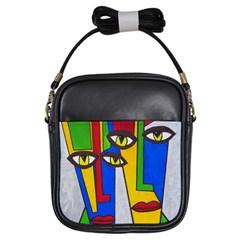 Face Girl s Sling Bag