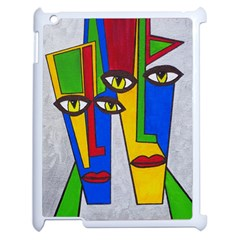 Face Apple iPad 2 Case (White)