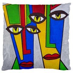 Face Large Cushion Case (Two Sided)