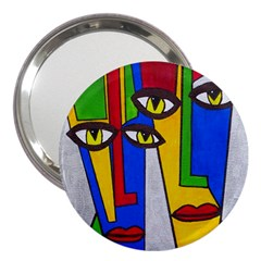 Face 3  Handbag Mirror