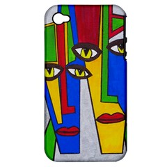 Face Apple Iphone 4/4s Hardshell Case (pc+silicone)