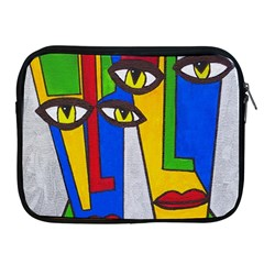 Face Apple iPad Zippered Sleeve