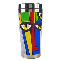 Face Stainless Steel Travel Tumbler
