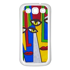 Face Samsung Galaxy S3 Back Case (White)