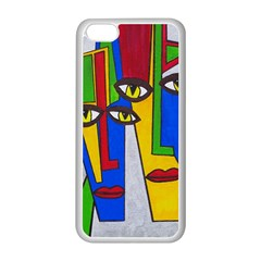 Face Apple iPhone 5C Seamless Case (White)