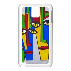 Face Samsung Galaxy Note 3 N9005 Case (White)