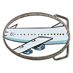 Airplane Belt Buckle (Oval)