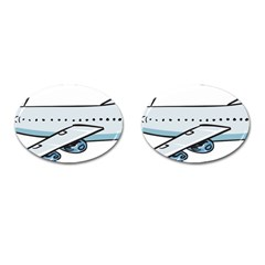 Airplane Cufflinks (Oval)