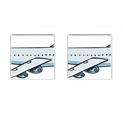 Airplane Cufflinks (Square)
