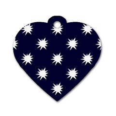 Bursting In Air Dog Tag Heart (one Sided)