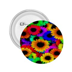 Colorful Sunflowers 2.25  Button