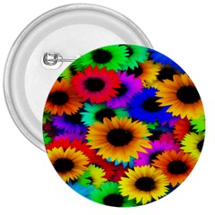 Colorful Sunflowers 3  Button