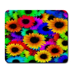 Colorful Sunflowers Large Mouse Pad (Rectangle)