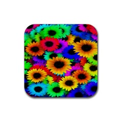 Colorful Sunflowers Drink Coasters 4 Pack (square)