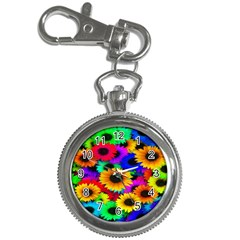 Colorful Sunflowers Key Chain Watch