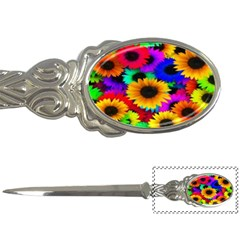 Colorful Sunflowers Letter Opener