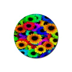 Colorful Sunflowers Drink Coaster (Round)