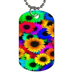 Colorful Sunflowers Dog Tag (one Sided)