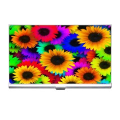 Colorful Sunflowers Business Card Holder