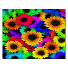 Colorful Sunflowers Jigsaw Puzzle (Rectangle)