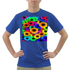 Colorful Sunflowers Men s T-shirt (Colored)