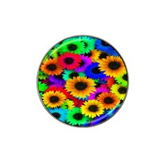 Colorful Sunflowers Golf Ball Marker 4 Pack (for Hat Clip)