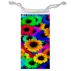 Colorful Sunflowers Jewelry Bag
