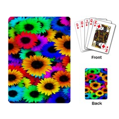 Colorful Sunflowers Playing Cards Single Design