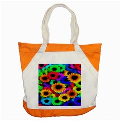 Colorful Sunflowers Accent Tote Bag