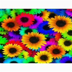 Colorful Sunflowers Canvas 12  x 16  (Unframed)