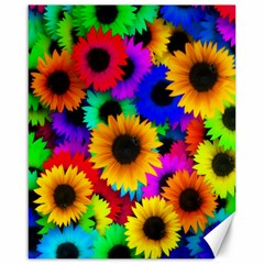 Colorful Sunflowers Canvas 16  x 20  (Unframed)