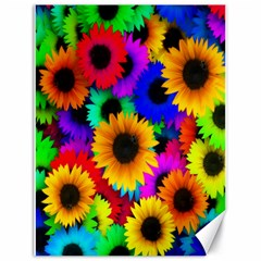Colorful Sunflowers Canvas 18  X 24  (unframed)