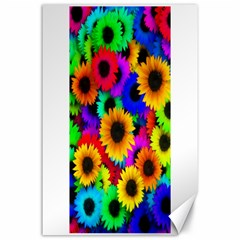 Colorful Sunflowers Canvas 24  x 36  (Unframed)