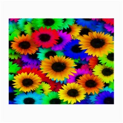 Colorful Sunflowers Glasses Cloth (Small, Two Sided)