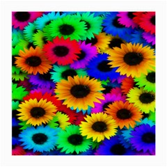 Colorful Sunflowers Glasses Cloth (Medium, Two Sided)