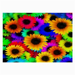 Colorful Sunflowers Glasses Cloth (large, Two Sided)