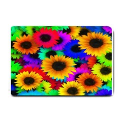 Colorful Sunflowers Small Door Mat