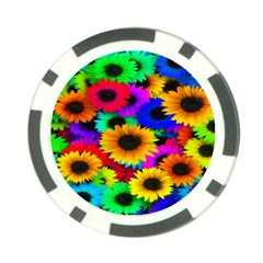 Colorful Sunflowers Poker Chip
