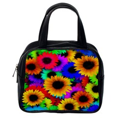 Colorful Sunflowers Classic Handbag (One Side)