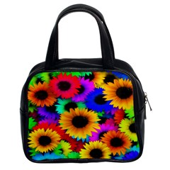 Colorful Sunflowers Classic Handbag (Two Sides)