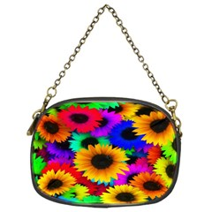 Colorful Sunflowers Chain Purse (One Side)