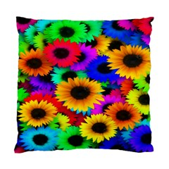 Colorful Sunflowers Cushion Case (Single Sided)