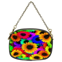 Colorful Sunflowers Chain Purse (Two Sided)