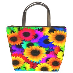 Colorful Sunflowers Bucket Handbag